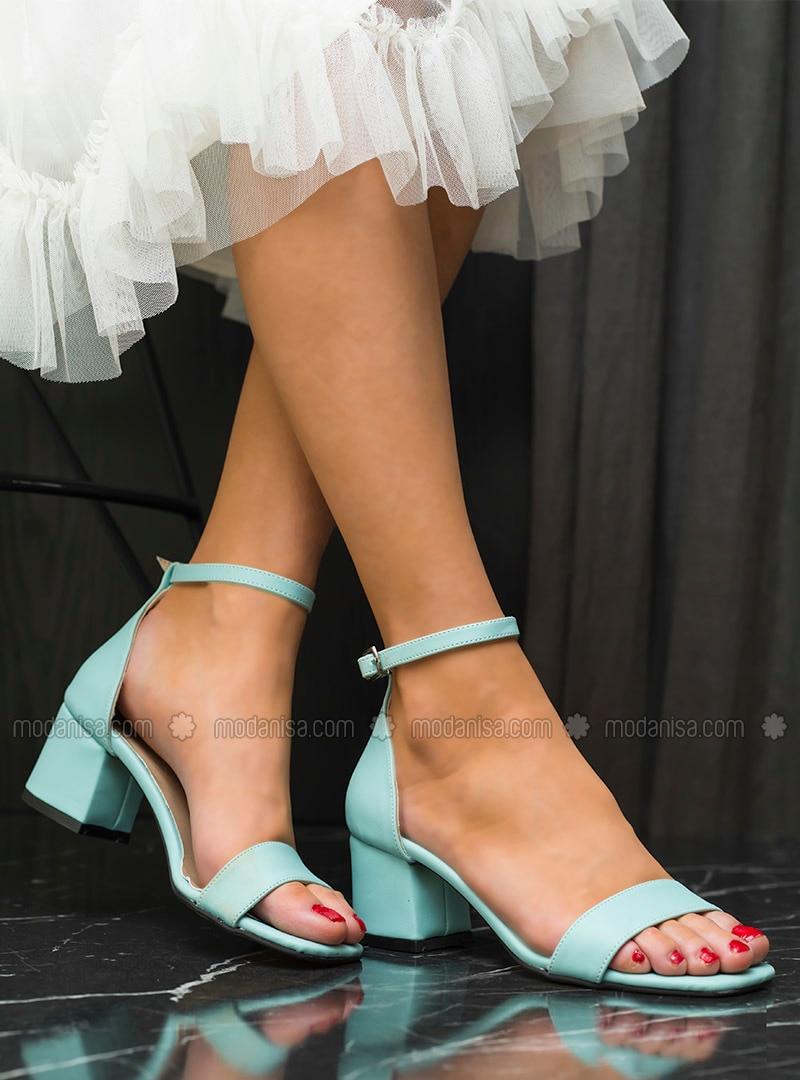 Sea-green - High Heel - Heels