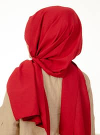 Maroon - Plain - Instant Scarf