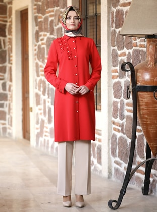 Unlined - Red - Point Collar - Evening Suit