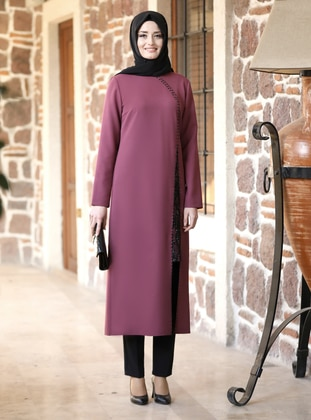 Unlined - Lilac - Crew neck - Evening Suit