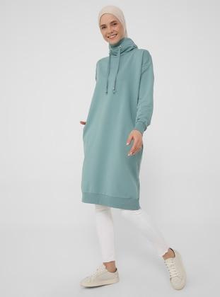 Polo neck - Mint - Sweat-shirt - Basic