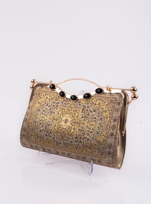 Gold - Satchel - Clutch - Clutch Bags / Handbags