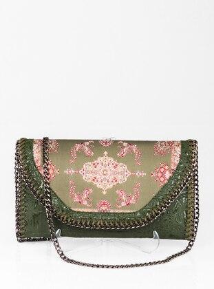 Khaki - Satchel - Clutch - Clutch Bags / Handbags