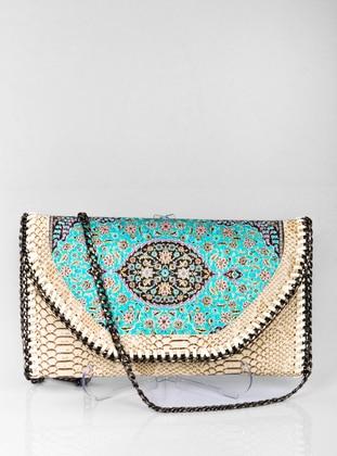 Turquoise - Satchel - Clutch - Clutch Bags / Handbags
