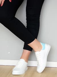White - Blue - Sport - Sports Shoes