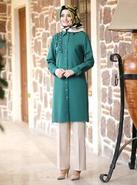 Unlined - Emerald - Point Collar - Evening Suit