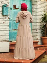 Beige - Modest Dress