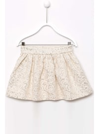 Ecru - Girls` Skirt