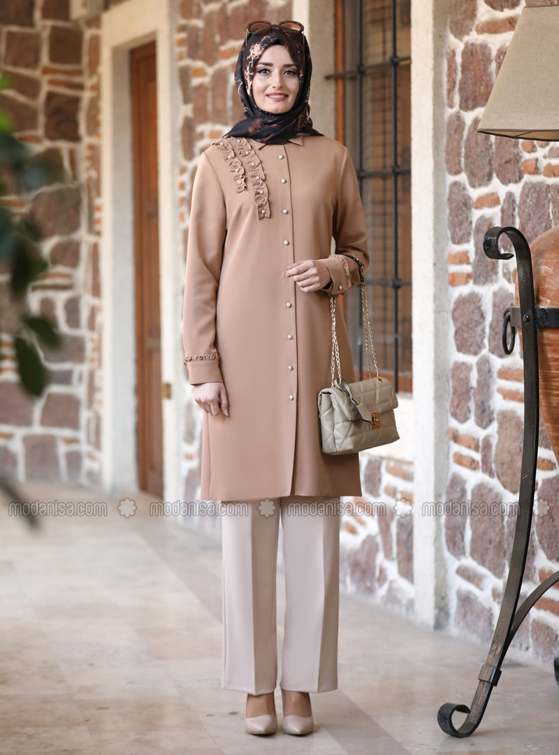 Unlined - Camel - Point Collar - Evening Suit