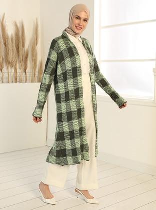 Khaki - Green - Multi - Cardigan