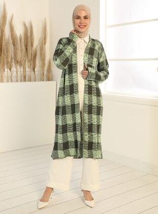 Khaki - Green - Multi - Cardigan - Tavin