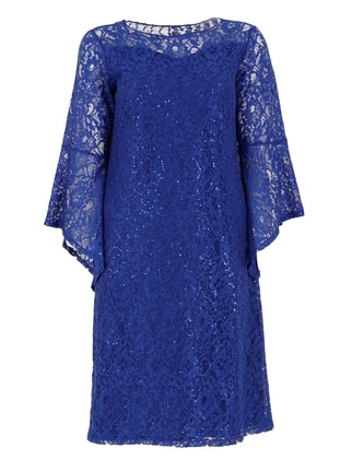 Saxe - Fully Lined - Crew neck - Modest Plus Size Evening Dress
