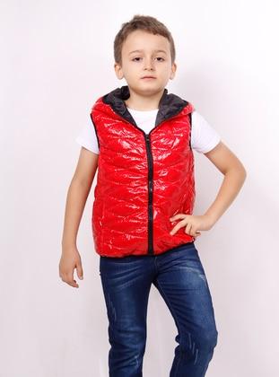 Red - Boys` Vest - Toontoy
