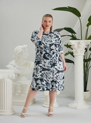 Navy Blue - Plus Size Dress