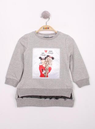 Gray - Girls` Sweatshirt - Toontoy