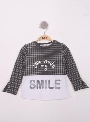 Multi - Crew neck - Multi - Girls` T-Shirt