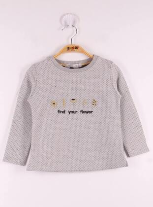 Gray - Girls` T-Shirt