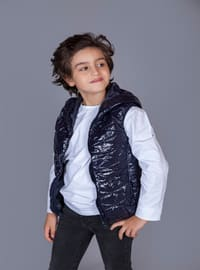 Navy Blue - Boys` Vest