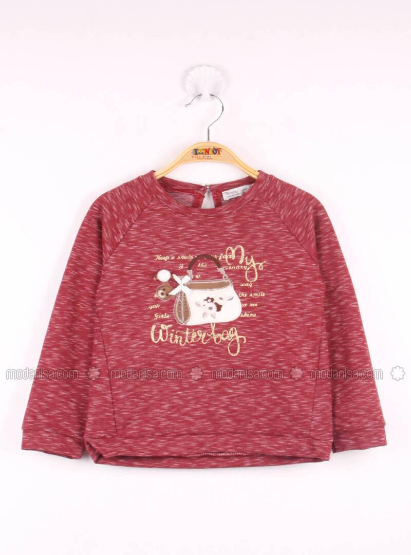 Maroon - Girls` Sweatshirt