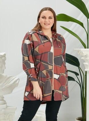 Terra Cotta - Plus Size Trench coat - RMG XXL