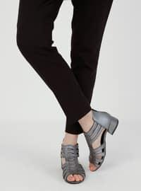 Silver tone - Sandal - Heels