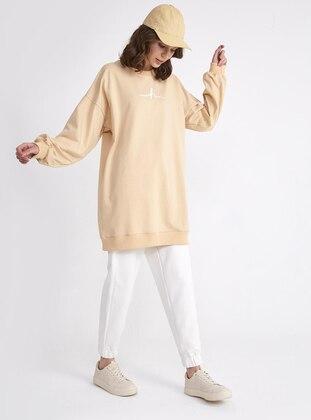 Beige - Activewear Tops