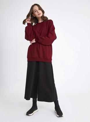 Maroon - Activewear Tops