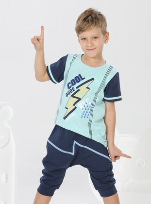Multi - Crew neck - Unlined - Multi - Boys` Suit