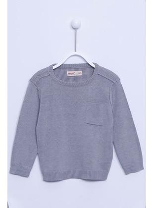 Gray - Boys` Pullover - Silversun