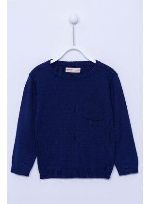 Navy Blue - Boys` Pullover - Silversun