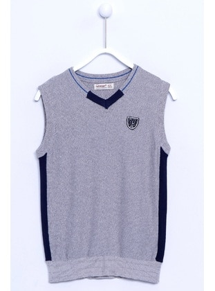 Gray - Boys` Vest - Silversun