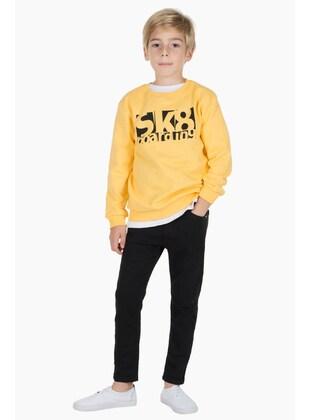 Yellow - Boys` Sweatshirt - Silversun