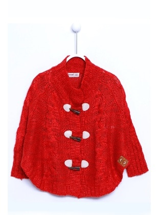 Red - Girls` Cardigan