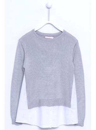 Gray - Girls` Pullover