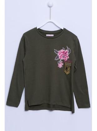 Khaki - Girls` T-Shirt - Silversun