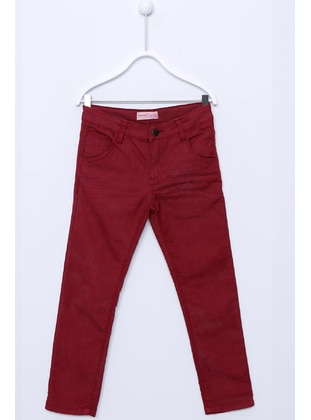 Maroon - Boys` Pants