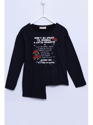 Black - Girls` T-Shirt - Silversun
