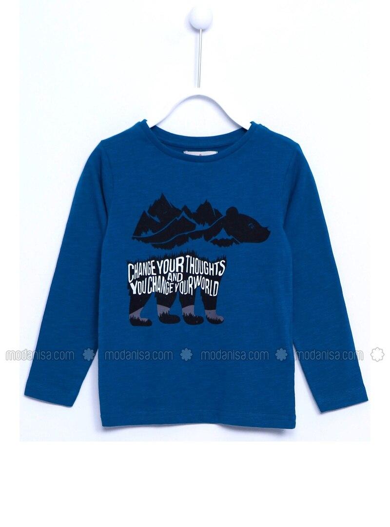 Blue - Boys` T-Shirt