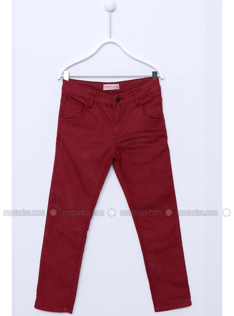 Maroon - Boys` Pants