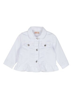 White - Girls` Jacket - Silversun