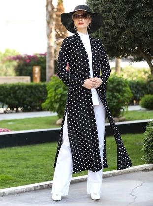 Black - Polka Dot - Unlined - Jacket