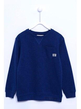 Navy Blue - Boys` Sweatshirt - Silversun