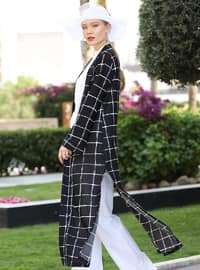 Black - Checkered - Unlined - Jacket