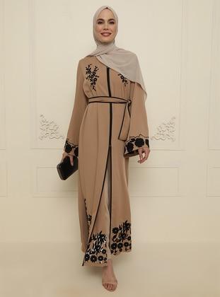 Beige - Evening Abaya
