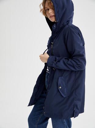 Navy Blue - Trench Coat