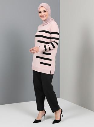 Powder - Stripe - Crew neck - Unlined - Knit Tunics
