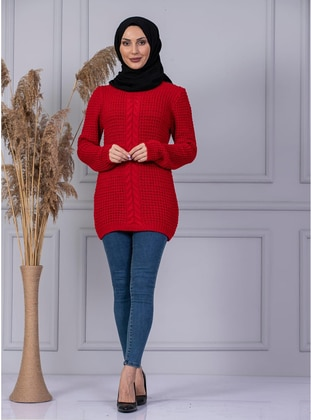 Red - Unlined - Knit Sweaters