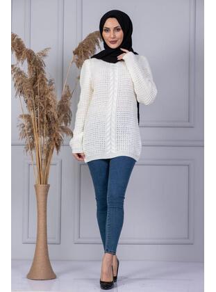 Unlined - Beige - Knit Sweaters