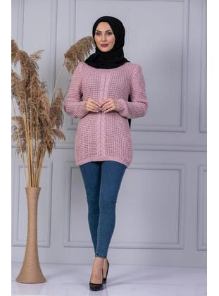 Unlined - Powder - Knit Sweaters - MISSVALLE