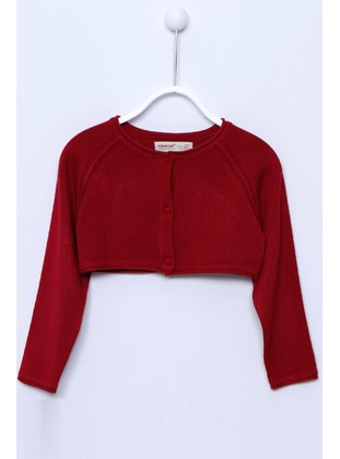 Maroon - Girls` Cardigan